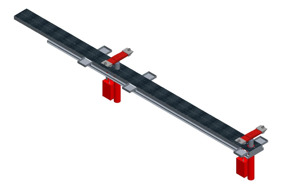 Modell: ST 10/2-B-VR  Ausführung: B-VR= Betongrube mit Rahmen und versenkten Traversen inklusive Rollenabdeckung