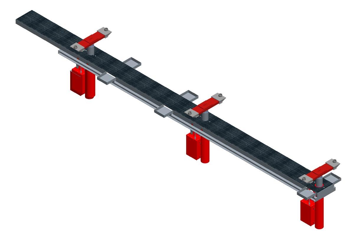 Modell: ST 10/3-B-VR  Ausführung: B-VR= Betongrube mit Rahmen und versenkten Traversen inklusive Rollenabdeckung