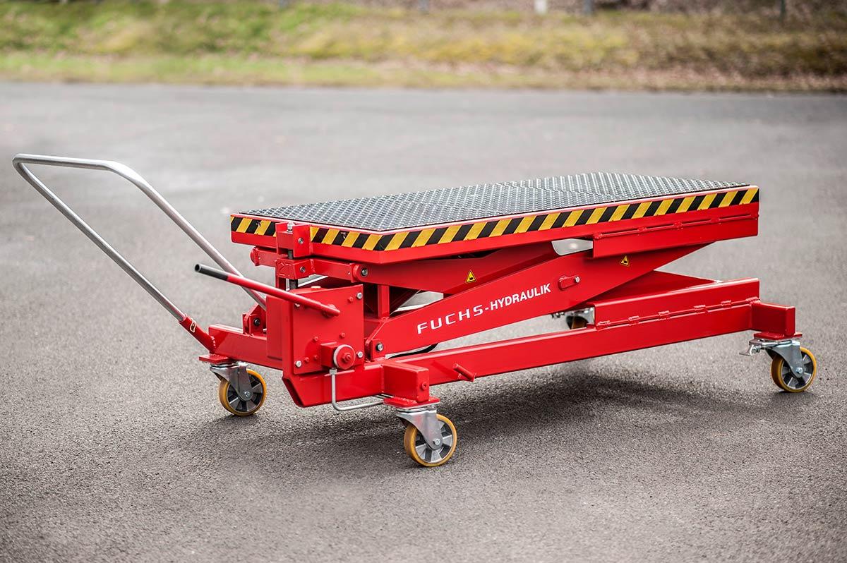 Hubwagen mit optionalem Zubehör