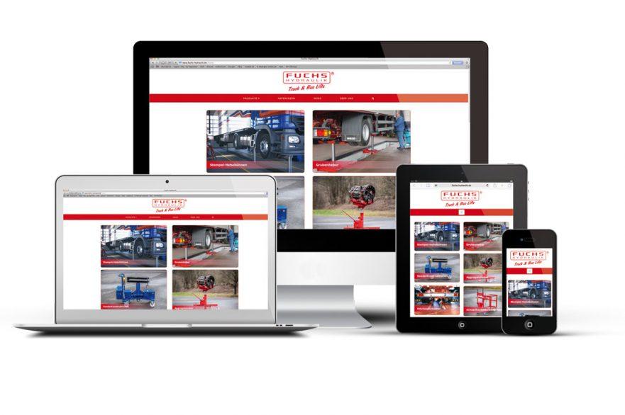 Fuchs-Hydraulik mit neuer Webseite