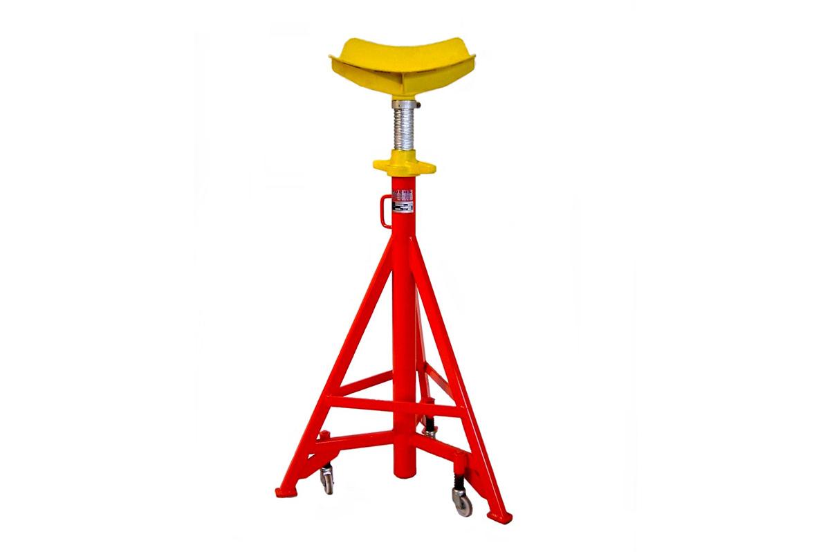 Unterstellbock mit 7000kg Tragkraft und stufenloser Spindelverstellung (650mm). Die Grundbauhöhe beträgt wahlweise 1350mm (Typ: UB-N-S 7 / Art. Nr.: 8.732.000) oder 990mm (Typ: UB-K-S 7 Art. Nr. 8.732.000-K)